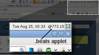 .beats GNOME panel applet